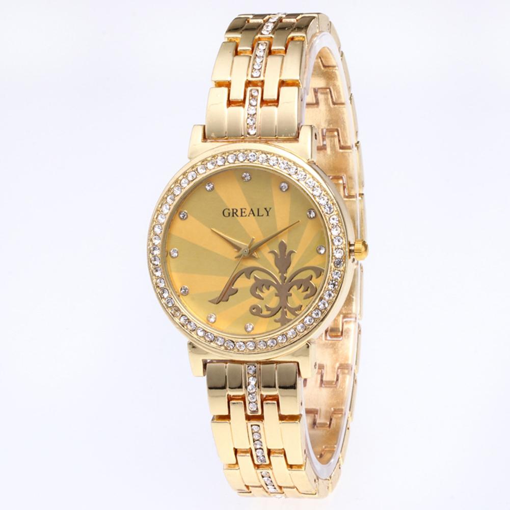 REALY-Fashion-Women-Men-Diamond-Crystal-Stainless-Steel-Wrist-Quartz-Watches thumbnail 7