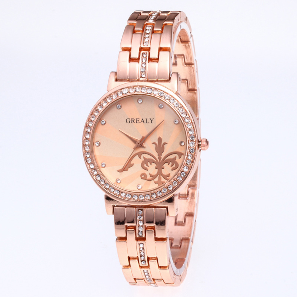 REALY-Fashion-Women-Men-Diamond-Crystal-Stainless-Steel-Wrist-Quartz-Watches thumbnail 8