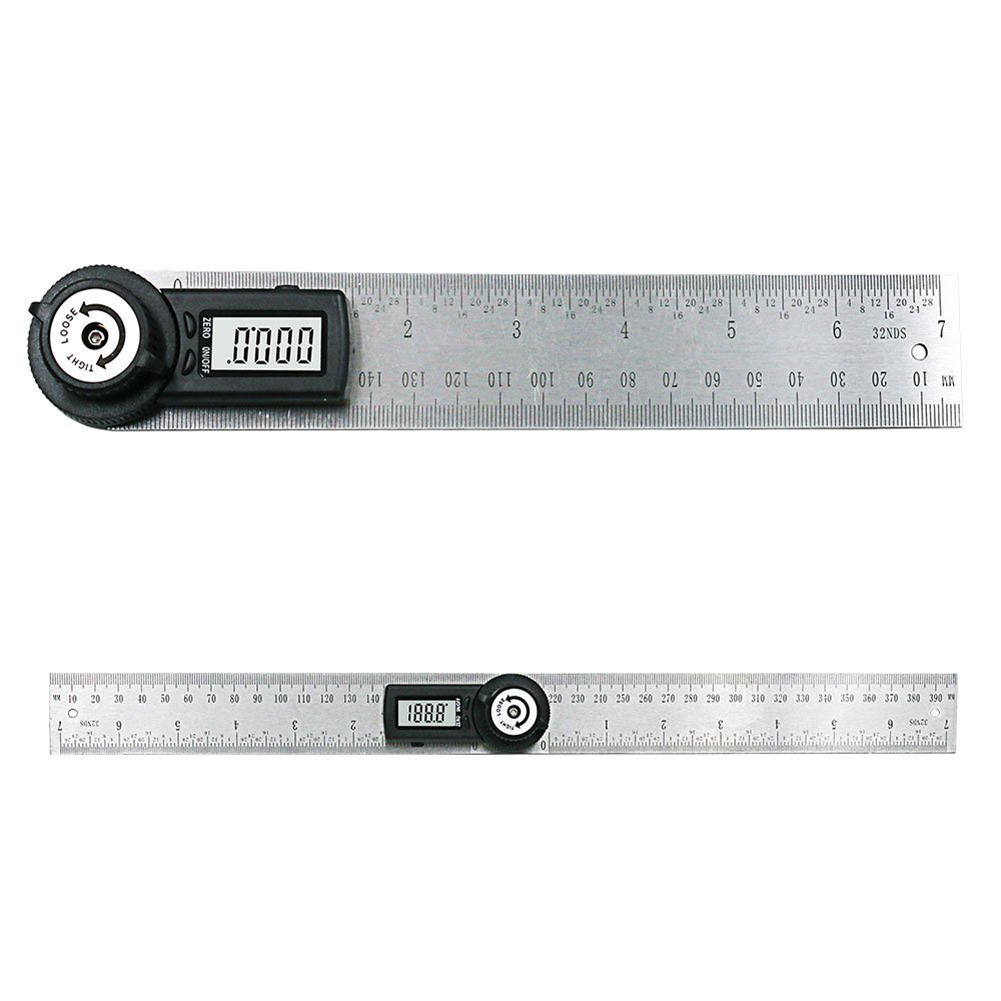 Details about UK Digital 2 in 1 Angle Finder Guage Meter Ruler Protractor  Goniometer 20cm 360°