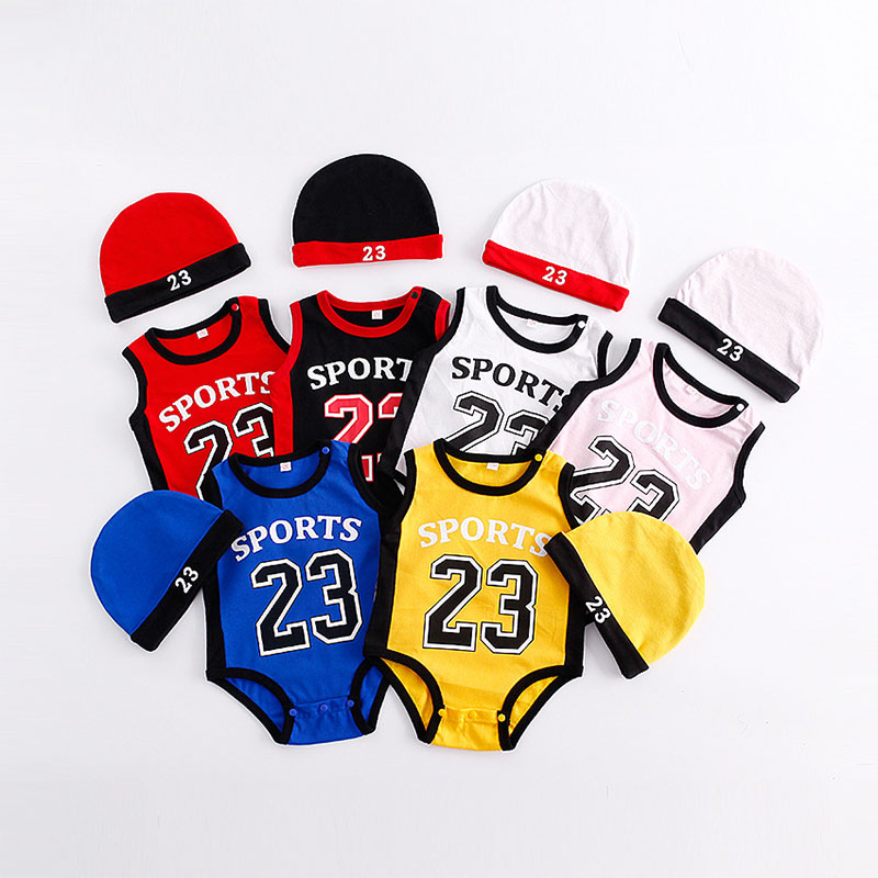 2 Pcs Baby Boys Girls Sports Casual Basketball Clothes Hat S