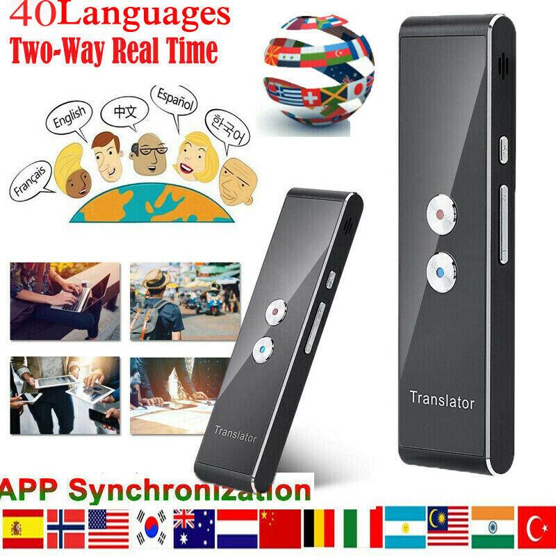 40 Sprache Übersetzung MUAMA Enence Smart Instant Echtzeit-Sprachübersetzer Tool