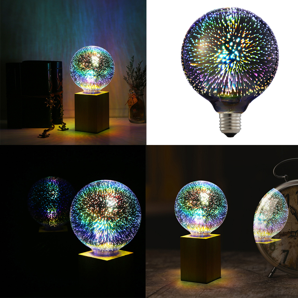e27 g95 led 3d bunte kreative dekor gl hbirne feuerwerk lampe szene design licht ebay. Black Bedroom Furniture Sets. Home Design Ideas